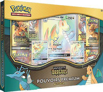 Maxireves Coffret Pokemon Majesté des Dragons Dracolosse GX et Hyporoi GX